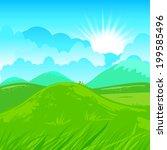rural vector illustration.... | Shutterstock .eps vector #199585496