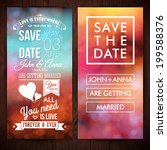 save the date for personal... | Shutterstock .eps vector #199588376