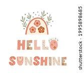 hello sunshine   nursery poster ... | Shutterstock .eps vector #1995898685