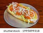 Italian Sub Sandwich On A Roll