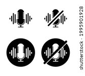 turn off the microphone icon.... | Shutterstock .eps vector #1995901928