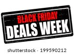 stamp with text black friday... | Shutterstock .eps vector #199590212
