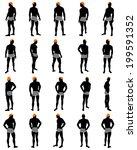 set of men silhouette. very... | Shutterstock .eps vector #199591352