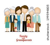 family design over white... | Shutterstock .eps vector #199594805