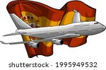 Vector Illustration Of Airplane ...