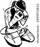 the vector black ink... | Shutterstock .eps vector #1995972812