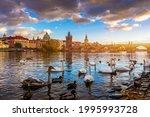 View Of Prague Charles Bridge...