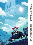 science fiction vector...   Shutterstock .eps vector #1996037522