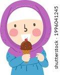 illustration of a kid girl...   Shutterstock .eps vector #1996041245