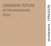 realistic cardboard texture.... | Shutterstock .eps vector #199610156
