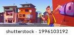 man with spray draws graffiti...   Shutterstock .eps vector #1996103192