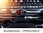 Closeup Of Metal Socket Ratchet ...
