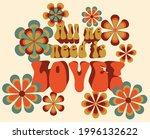 70s groovy retro inspirational...   Shutterstock .eps vector #1996132622