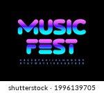 vector bright banner music fest.... | Shutterstock .eps vector #1996139705