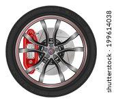 vector illustration wheel drive ...   Shutterstock .eps vector #199614038