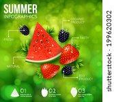 abstract summer infographics... | Shutterstock .eps vector #199620302