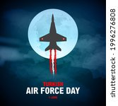 Turkish Air Force Day, Concept Banner and Typography theme name. The foundation of the Turkish Air Force was laid by the Minister of War Mahmud Shevket Pasha in Yeşilköy on 1 June 1911.