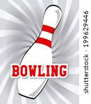 bowling design over white... | Shutterstock .eps vector #199629446