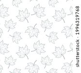 seamless pattern with maple... | Shutterstock .eps vector #1996319768