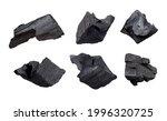black coal set isolated on...   Shutterstock . vector #1996320725
