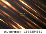abstract golden ribbons with... | Shutterstock .eps vector #1996354952