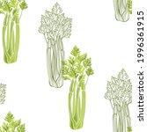 celery. seamless vector...   Shutterstock .eps vector #1996361915