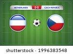 netherlands vs czech republic... | Shutterstock .eps vector #1996383548