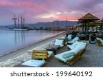 sunrise at the central beach of ... | Shutterstock . vector #199640192
