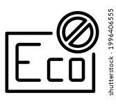 damaged freezer icon. outline... | Shutterstock .eps vector #1996406555