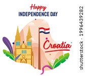 Happy Croatia National Day Celebration vector template, Background Concept for Independence Day and other events,  Illustration Design. Poster.
