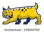 bobcat mascot | Shutterstock .eps vector #199644785