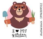 brown teddy bear dressed in... | Shutterstock .eps vector #1996509512