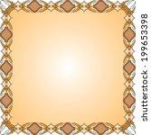 vintage frame with floral... | Shutterstock .eps vector #199653398