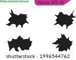 cracks vector icons. black... | Shutterstock .eps vector #1996544762