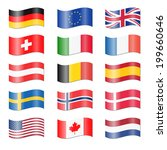 set of swung country flags | Shutterstock .eps vector #199660646