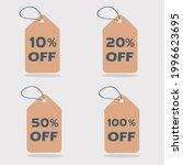 brown paper hangable promotion... | Shutterstock .eps vector #1996623695