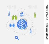 central  nervous system cns | Shutterstock .eps vector #199664282