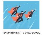 team of businessmen flying...   Shutterstock .eps vector #1996710902