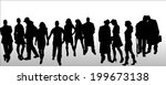 vector silhouettes of different ... | Shutterstock .eps vector #199673138