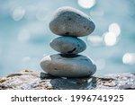 Balanced Pebble Pyramid On The...