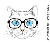 nice fashion cat design  | Shutterstock . vector #199674332
