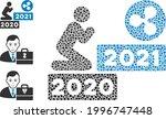 mosaic man pray ripple 2021...   Shutterstock .eps vector #1996747448