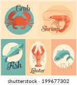 set of marine animals.   Shutterstock .eps vector #199677302