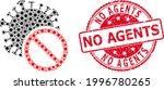 vector mosaic no covid virus of ... | Shutterstock .eps vector #1996780265