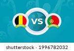 belgium vs portugal match... | Shutterstock .eps vector #1996782032