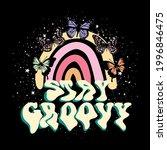 70's rainbow retro stay groovy...   Shutterstock .eps vector #1996846475