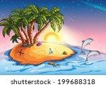 illustration of treasure island ... | Shutterstock . vector #199688318