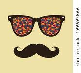vintage hipster  background.... | Shutterstock .eps vector #199692866