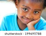 facial portrait of cute african ... | Shutterstock . vector #199695788