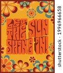 70s groovy retro inspirational...   Shutterstock .eps vector #1996966658